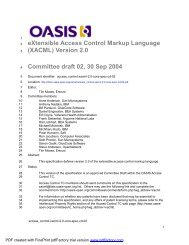 eXtensible Access Control Markup Language (XACML) Version 2.0 ...