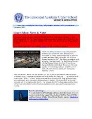 Upper School News & Notes - Episcopal Academy