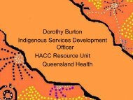 Examples of Best Practice in Queensland - NCOSS