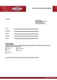 Checkliste Gefahrstoffarbeitsplätze Firma: Abteilung: Name: Telefon ...