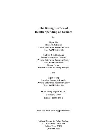 The Rising Burden of Health Spending on Seniors - SEPP ...
