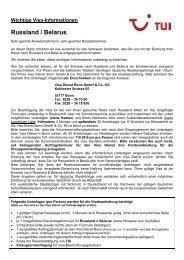 Wichtige Visa-Informationen Russland / Belarus - Visum.de