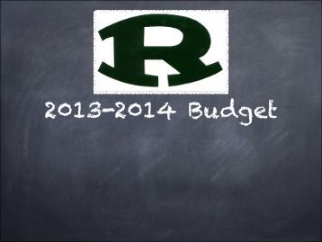 2013-2014 Proposed Budget - Ridley School District
