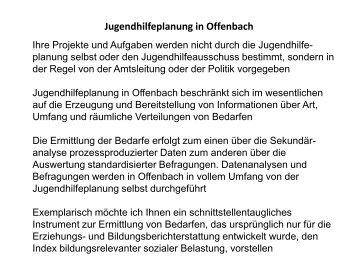 Jugendhilfeplanung in Offenbach - Das Bundesjugendkuratorium