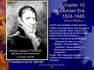 Chapter 10 Jacksonian Era - Rose State College