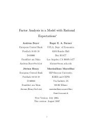 Factor Analysis in a Model with Rational ... - Roger EA Farmer