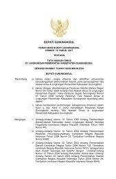 Peraturan Bupati Gunungkidul Nomor 19 Tahun 2011 Tentang Tata ...