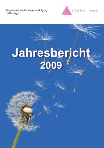 Jahresbericht 2009 - Schweizerische Alzheimervereinigung Uri ...