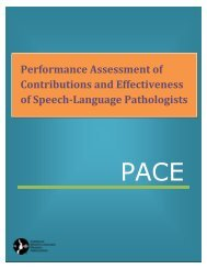 Performance Assessment of Contributions and Effectiveness of ...