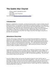 The Goblin War Chariot