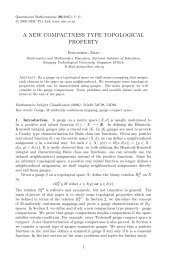 A new compactness type topological property - NIE Mathematics ...