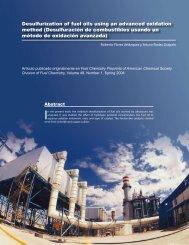Desulfuración de combustibles usando un método de oxidación ...