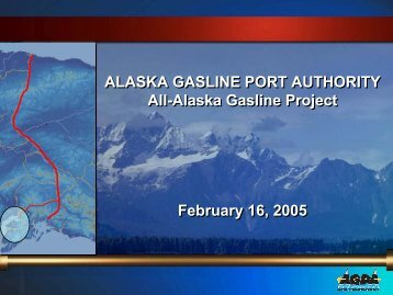 ALASKA GASLINE PORT AUTHORITY All-Alaska Gasline Project ...