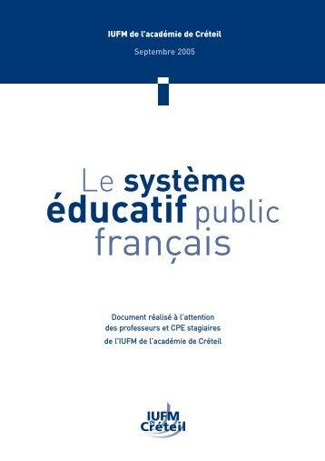 Le système éducatif public français - Université Paris Diderot-Paris 7