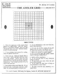 Amsler Grid - Carolina Vision Dr. Julian A. Crowder Optometrist