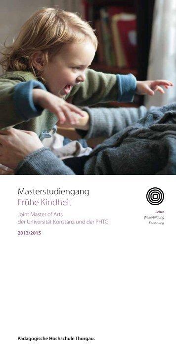 Broschüre Master Frühe Kindheit - Marie Meierhofer Institut für das ...