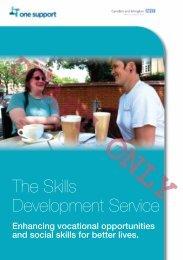 Skills development service - One Housing Group