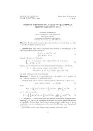 Positive solutions to a class of quasilinear elliptic equations on $R