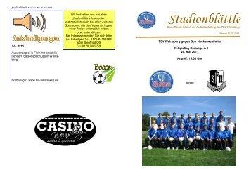 Stadionblättle_Ausgabe 29 29052011 - TSV Weinsberg Fussball ...