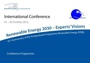 Download - Renewable Energy 2030 - Experts' Visions - Carl von ...