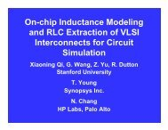 On-chip Inductance Modeling and RLC Extraction of VLSI ...