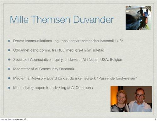Mille Themsen Duvander, Intersmil - Lasse Ahm Consult