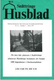 1987-1 - Snättringe fastighetsägareförening