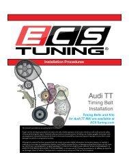 Audi MKI TT 1.8T Timing Belt Installation