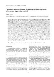 Taxonomic and nomenclatural clarifications on the genus Agrilus ...