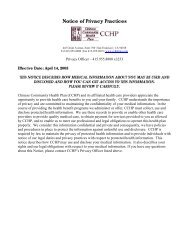 Notice of Privacy Practices - CCHP