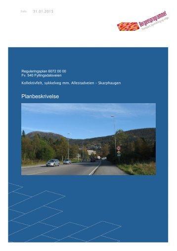 PLANBESKRIVELSE revidert 31.01.2013 - Bergen kommune