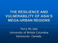 The Resilience and Vulnerability of the Extended Urban Spaces in ...