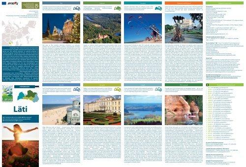 TurismikaarT Läti. See on roheline maa liivaste mererandadega ...