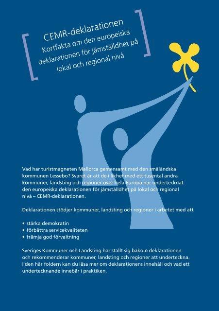 Cemr Deklarationen Kortfakta Sveriges Kommuner Och Landsting