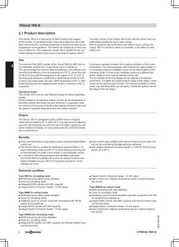 Tehnilised andmed -  Viessmann