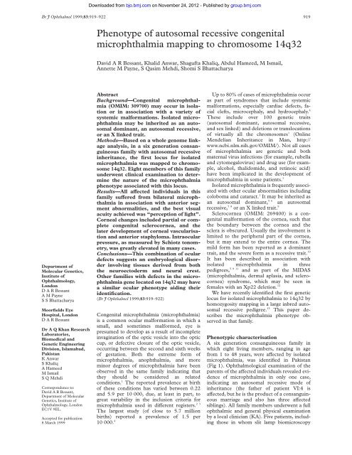 Phenotype of autosomal recessive congenital ... - Bmj.com