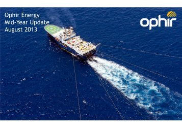 Download Presentation - Ophir Energy