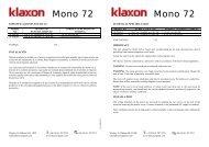 Mono 72 Mono 72 - Klaxon Signals Ltd.