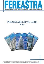 PREZENTARE & RATE CARD 2010 - Fereastra