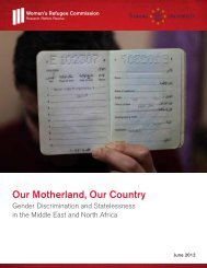Our Motherland, Our Country - Women's Refugee Commission