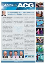 Issue 40 March 2013 - The Academic Colleges Group