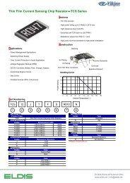 Thin Film Current Sensing Chip ResistorTCS Series - ELDIS Ehmki ...