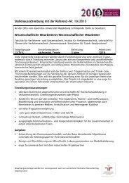 Wissenschaftliche Mitarbeiterin/Wissenschaftlicher Mitarbeiter ... - SPE