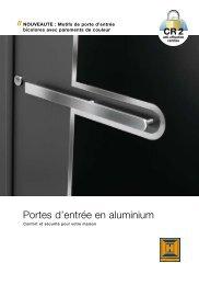 Portes d'entrée en aluminium - Acmsa.ch
