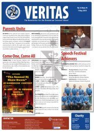 The Newsletter For - Dominican Convent School