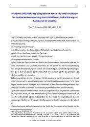 Richtlinie 2005/35/EG über die Meeresverschmutzung durch Schiffe ...