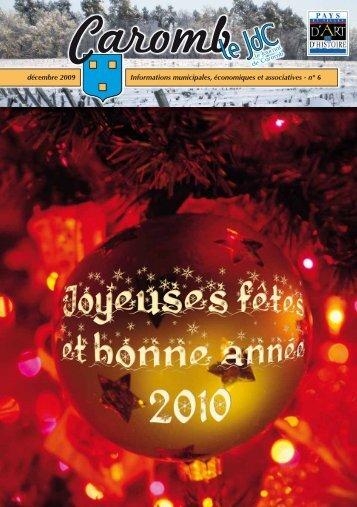 n° 6 décembre 2009 - Ville de Caromb