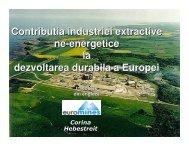 Contributia industriei extractive ne-energetice la ... - CSN Meridian