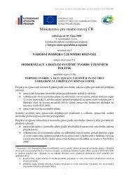 8. kontinuální výzva k podávání žádostí o poskytnutí podpory v ...