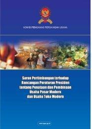 Position Paper Rancangan Peraturan Presiden tentang ... - KPPU